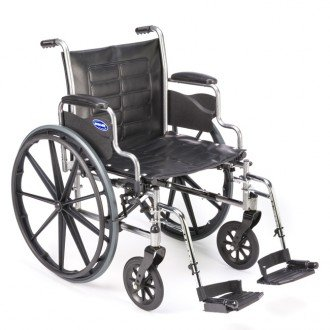 Invacare LightWeight Tracer EX2 Wheelchair 18' with Swingaway Footrest-Blue (Folding, Assembled)