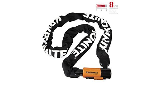 Kryptonite Evolution Series-4 1016 Integrated Chain Bicycle Lock Bike Lock (5.25')