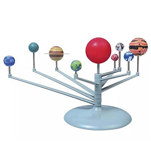 HS Children DIY Planets Model Toys Planetarium Solar System Model Kit Kids Science Gift