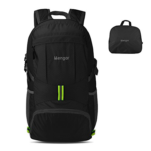 Backpack Daypack,Travel Backpack, Mengar 35L Foldable Water Resistant Packable Backpack Hiking Daypack - Ultralight and Handy & (Black New)