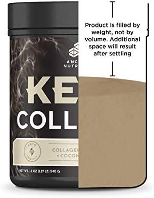 Ancient Nutrition KetoCOLLAGEN Powder, Keto Diet Supplement, Types I and III Collagen Plus Coconut MCTs, Pure Flavor, 30 Servings, 19 oz 7