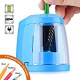 SMARTRO Pencil Sharpener, Best Heavy Duty Steel Blade, Electric Pencils Sharpener with Auto Stop for Colored Pencils Artists Kids Adults