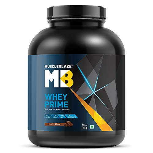 MuscleBlaze 80% Whey Protein Isolate (Chocolate, 2 Kg / 4.4 lb)
