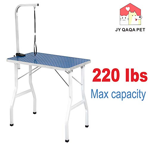 JY QAQA PET 32' Professional Foldable Pet Dog Grooming Table with Adjustable...
