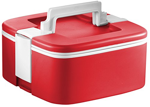 Ozeri FS3-R Thermomax Stackable Lunch Box and Double-wall Insulated Food Storage Container, Red