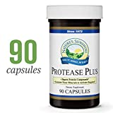 Nature's Sunshine Protease Plus, 90 Capsules | Powerful Digestive Enzyme Supplements with 60,000 HUT Protease to Break Down Proteins and Amino Acids