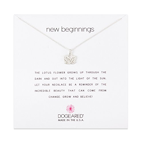Dogeared New Beginnings Lotus Sterling Silver Necklace Shop New