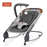 born free KOVA Baby Bouncer -  Baby Rocker with Two Modes of Use, Removable Toys and Compact Fold for Storage or Travel - Easy to Clean, Machine Washable Fabrics