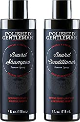 Beard Growth Shampoo and Conditioner Set - Best Organic Face Soap with Biotin & Tea Tree - Best Beard Wash with Beard Oil - Facial Hair Growth Kit for Men - Rapid Hair and Beard Growth - Made in USA  Image