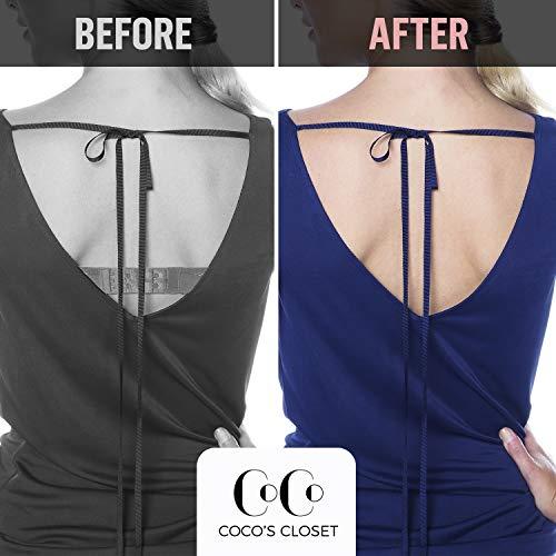 a064f469fc617 Coco s Closet Low Back Bra – Adjustable Bra Extender for Backless Dress –  Nude 3 Hook Strap Converter