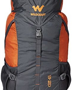 45 Ltrs Grey and Orange Wildcraft Rucksack
