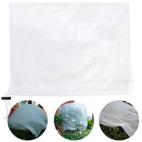 BELUPAI Plant Covers Freeze Protection Frost Blanket, Reusable Plant Cover Jacket with Zipper Drawstring for Season Extension Frost Protection
