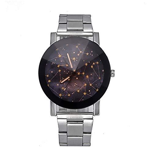 Dilwe Reloj de Pulsera para Mujer, 3 Tipos, diseño de Moda, Esfera Redonda, analógico, Movimiento...