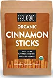 Organic Korintje Cinnamon Sticks | Perfect for Baking, Cooking & Beverages | 100+ Sticks | 2 3/4' Length | 100% Raw From Indonesia | by Feel Good Organics