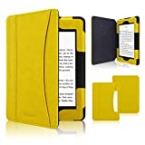 ACdream Kindle Paperwhite Case 2018, Folio Smart Cover Leather Case with Auto Sleep Wake Feature for All New and Previous Kindle Paperwhite Models, Yellow