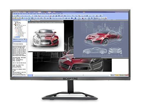 Sceptre E E248W-1920R 24' Ultra Thin LED Monitor HDMI, Metallic