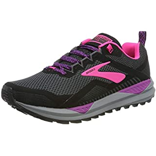 Brooks – Cascadia 14-1203041B063 – Color: Black-Pink-Violet – Size: How Many Miles Running Shoes