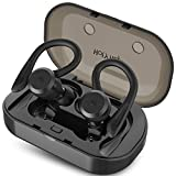 HolyHigh Sports Wireless Earbuds Bluetooth 5.0 IPX7 Waterproof Sweatproof in Ear Mini Stereo Sound Wireless Earphones Headphones with Charging Case Micro for Running Sport Gym for iOS Android