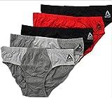 Reebok 5 Pack Low Rise Brief Men - Red/Grey/Black (Medium)