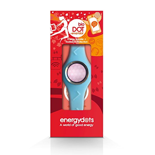 energydots bioBAND + free smartDOT, ready to wear personal protection and energy booster and powerful radiation/EMF protection from cells phones, laptops and other wireless devices etc. (Large-Blue)