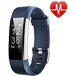 LETSCOM Fitness Tracker HR, Activity Tracker with Heart Rate Monitor Watch, IP67 Waterproof Smart Wristband with Calorie Counter Watch Pedometer Sleep Monitor for Kids Women Men