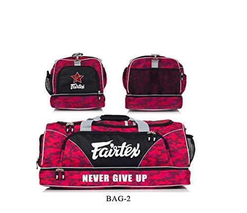 Fairtex Gym Bag Bag-2 Red Gear Equipment Muay Thai Kickboxing MMA K1