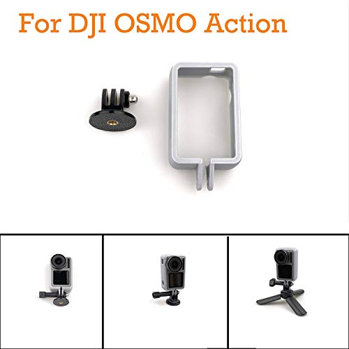 Sodoop Protective Cover Case + Vertical Photography Stand Adapter Compatible for DJI OSMO Action Camera Case 4K Camera