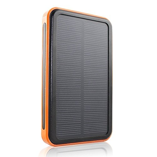 F.Dorla® 30000mAh Solar Charger Waterproof Portable Solar Power Bank Dual USB Charger Built in LED Flashlight for iPhone Android Phone PSP MP3 Camera and Other 5V USB Devices (30000mAh)