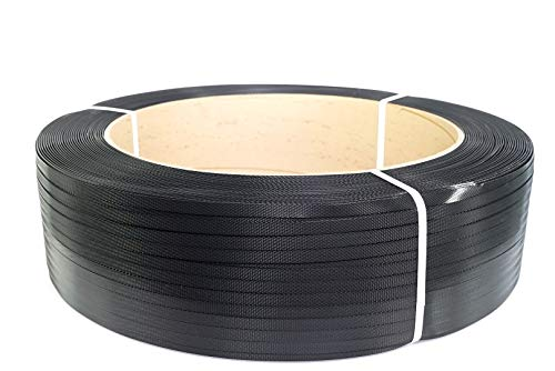 PAC Strapping 48H.50.2172 Polypropylene Heavy Duty Hand Grade Strapping, 7,200' Length, 1/2' Width, Black