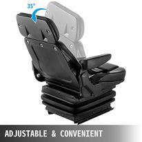 VEVOR-Suspension-Seat-Adjustable-Backrest-Headrest-Armrest-Forklift-Seat-with-Slide-Rails-Foldable-Heavy-Duty-for-Tractor-Forklift-Excavator-Skid-Steer