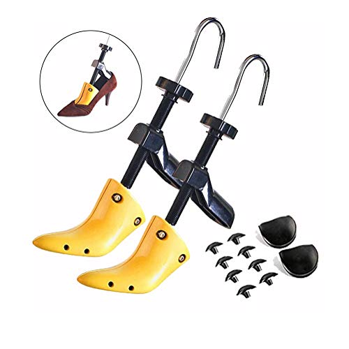 2 Way Women High Heel Shoe Stretcher,Women LadyAdjustable Length and Width PlasticProfessional Shoe Stretcher for USA Women's Size 4.5-9.5