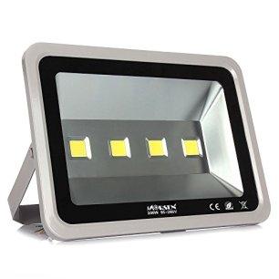 Morsen 200W LED Flood Lights Cool White 6000K, High Power 4 LED Chips Security Spotlights Waterproof For Garden Landscape Court Indoor Outdoor 85V-265V