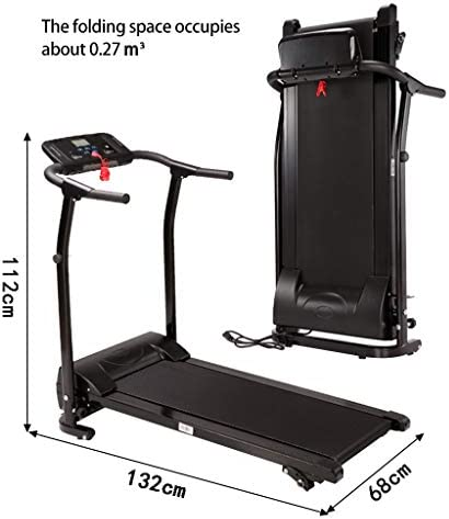 Finelylove Treadmill for Home Gym Running Machine, Multi-Functional LED Display Electric Folding Treadmill 3