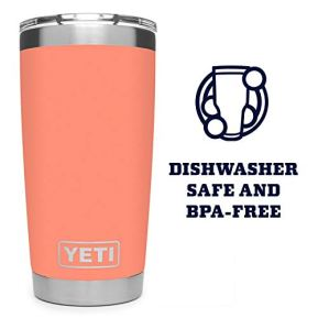 YETI-Rambler-20-oz-Tumbler-Stainless-Steel-Vacuum-Insulated-with-MagSlider-Lid-Coral
