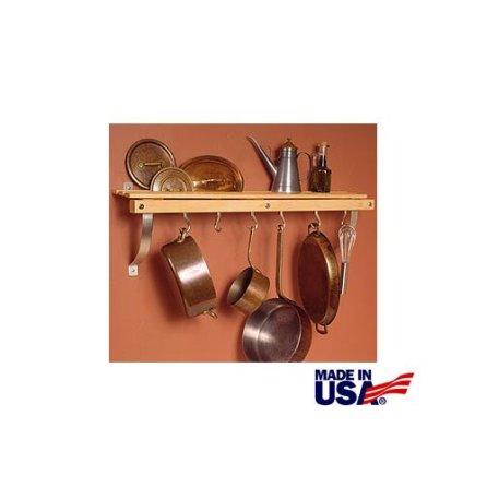 JK-Adams-36-Inch-by-11-Inch-Wall-Mounted-Pot-Rack-6-Hooks-Included
