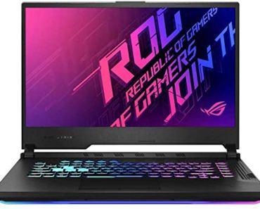 Asus Gaming Laptop ROG Strix G15 i7-10750H(8 Gb Ram,512G SSD,15.6 FHD-144hz,GTX1650Ti-4GB,RGB Backlit,WIFI6,WIN10,,Electro Punk),G512LI-HN126T