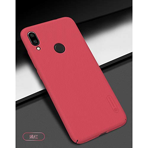 Nillkin Case for Xiaomi Redmi Note 7 Super Frosted Hard Back Cover Hard PC Red Color 4