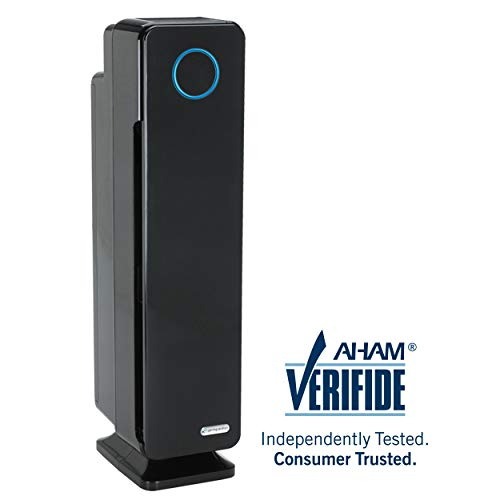 "GermGuardian AC5350B 28"" 4-in-1 Large Room Air Purifier for Home, True HEPA Filter, UVC Sanitizer, Air Cleaner Traps Allergens, Smoke, Odors, Mold, Dust, Germs, Pet Dander, 5 Yr Warranty Germ Guardian"