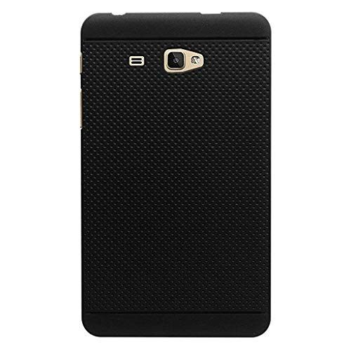 KANICT Dotted Matte Finished Soft Skin Rubbersied Back Case Cover for Samsung Galaxy J Max/T285 T280 Tablet (Black) 99