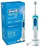 Oral-B Pro 500 Electric Power Rechargeable Toothbrush with Automatic Timer and Precision Clean Brush Head, Powered by Braun