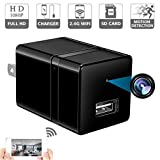 Spy Camera Wireless Hidden - USB Wall Charger Camera -Nanny Cam with Cell Phone App - Spy Camera WiFi - Home Security - 1080P HD - Motion Detection - Smart Snap Cam