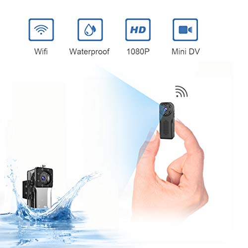 Waterproof SpyCameraWireless Hidden,ZZCP WiFi FullHD 1080P Portable Mini Nanny Cam with Night Vision and Motion Detection,PerfectCovert SmallSecurity Camerafor Indoorand Outdoor