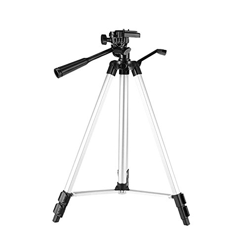 """Docooler Portable Lightweight Tripod, JF-3110 35-65cm Aluminum Alloy Travel 3-sections Stand w/Phone Holder 1/4"""" Screw Hole for Projector Smart Phone Camera"""