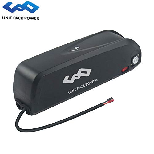 UnitPackPower New Hailong 48V 14.5AH/17.5AH Lithium ion Battery Down Tube Battery Pack with USB Port 30A BMS For 48V 750W 1000W Electric Bike Motor (48V 17.5AH LG)
