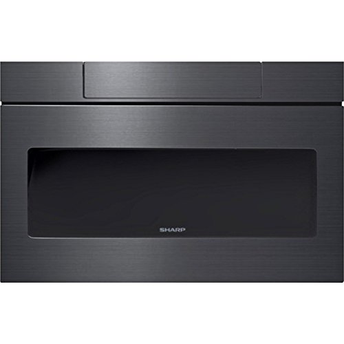 "Sharp SMD2470AH 24"" Microwave Drawer with 1.2 cu. ft. Capacity in Black Stainless Steel"