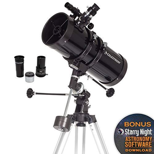 Celestron 2104360mm PowerSeeker Telescopio Ecuatorial, 127EQ Newtoniano, Negro