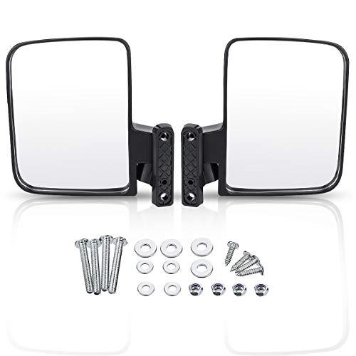 Audew Golf Cart Mirrors - Universal Folding Side View Mirror for Golf Cart as Club Car, EZGO, Yamaha, Star, Zone Carts