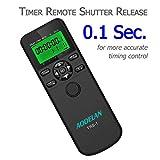 Timer Remote Shutter Release and Intervalometer with LCD and HDR for Nikon Z6, Z7, D750, D7000, D7100, D800 and for Fujifilm Kodak Cameras