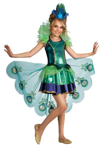 kids peacock costume - Peacock Costume, Large