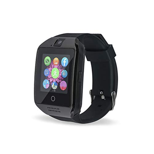 Bluetooth Smart Watch Phone VINCIGEEK Smart Watch Mobile Phone Unlocked Universal GSM Bluetooth 4.0 NFC Music Player Camera Calendar Stopwatch Sync for Android iPhone Google Huawei Smartphones(Black)